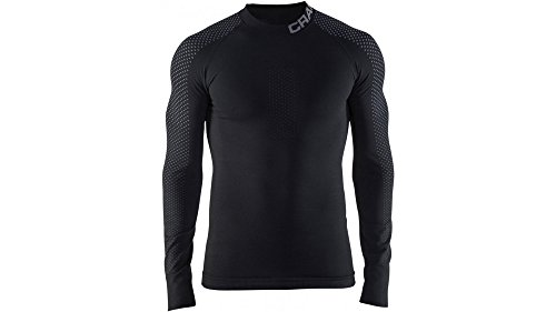Craft Herren WARM INTENSITIY CN LS M bl S Baselayer, Black/Granite, S