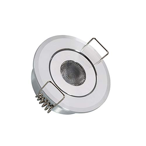 LEDKIA LIGHTING Foco Downlight LED 1W COB Direccionable Circular Corte Ø 45 mm Blanco Cálido 3000K