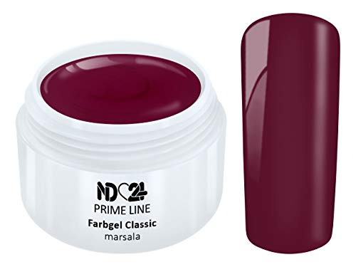 5ML - PRIME LINE - Color UV Gel LED FARBGEL MARSALA ROT RED French Modellage Nail Art Design Nagel Lila Studio Qualität - MADE IN GERMANY