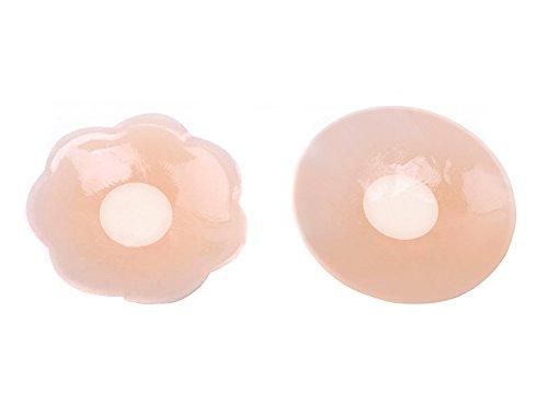 Plum Blossom Frauen selbstklebend ultrasoftes Silikon Wiederverwendbare Nipple Covers Pasties Stilleinlagen Brust Petal