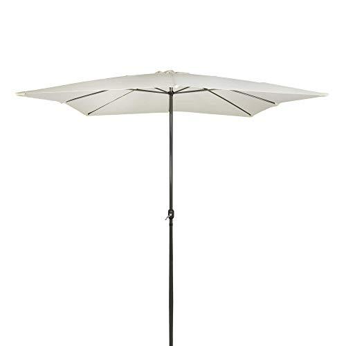 Aktive Garden 53875 Parasol Cuadrado con Mástil de Aluminio 48 mm, Vainilla, 300 x 300 cm