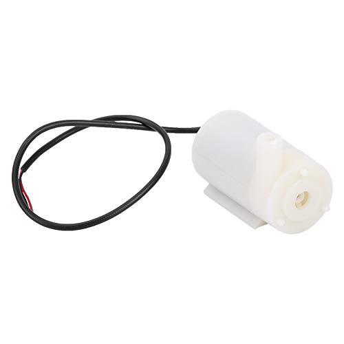 Microbomba de agua sumergible de 3 a 5 V, color blanco, CC 3 a 5 V, protección contra la corrosión y la corrosión, 43 x 23 x 31 mm, de plástico