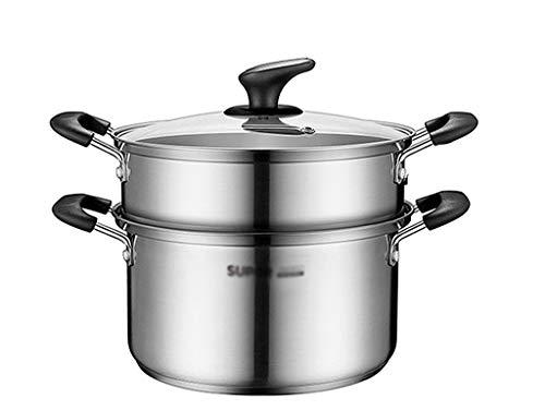 XBZ-zh Z-W-Dong dikke soeppan, roestvrij staal 22 cm in diameter stoompan bedrijf Cafeteria kookgerei geschikt voor alle fornuizen stoompan
