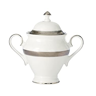 Waterford China New Grange Platinum Covered Sugar