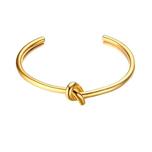 Joeyan Schöne Moderen Öffnen Schmetterling Knoten Armband Charme Armspange Gold Armkette