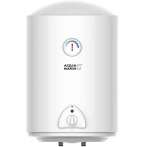 Aquamarin® Chauffe-Eau Électrique - Réservoir avec Capacité de 50 Litres, Puissance 1500W, Thermostat à 75 ° C - Ballon d'Eau Chaude, Chaudière Électrique