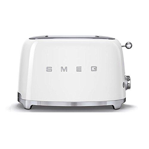 SMEG Tostapane TSF01WHEU, Acciaio Inossidabile, 2 Scomparti, Bianco