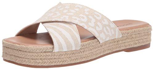 Lucky Brand Women's GAYTE Wedge Sandal, Natural, 5.5