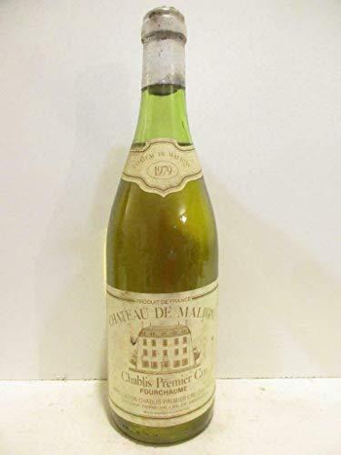 chablis château de maligny premier cru fourchaume blanc 1979 - bourgogne