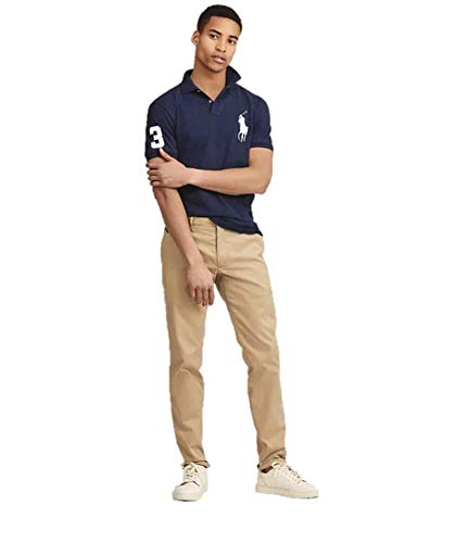 Polo Ralph Lauren Mens Custom Fit Mesh Big Pony Polo Shirt