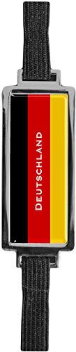 Schmucklesezeichen aus Metall mit gerader Kontur | Flagge Deutschland #9923009
