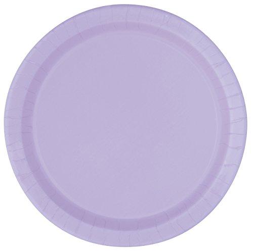 Unique Lavender Paper Plates, 8ct