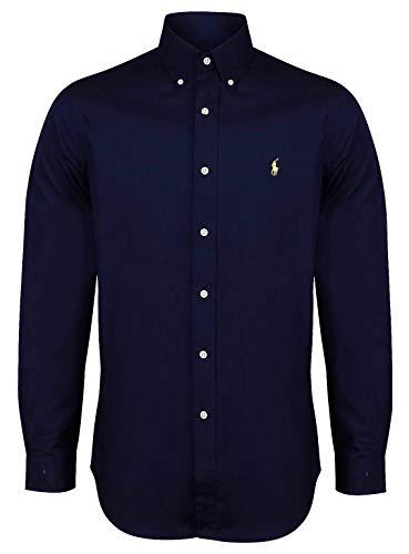 Ralph Lauren Polo-Hemd Popeline, passgenau, weiß, marineblau, schwarz, S–XXL Gr. Medium, navy