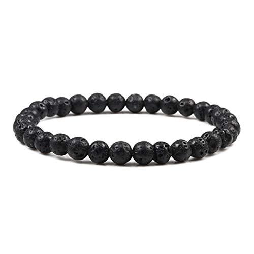 2pcs 10mm Tiger Eye Natural Stone Beads Bracelet 3 Size Buddha Lava Round Beads Elasticity Rope Bracelets for Men Handmade Jewel