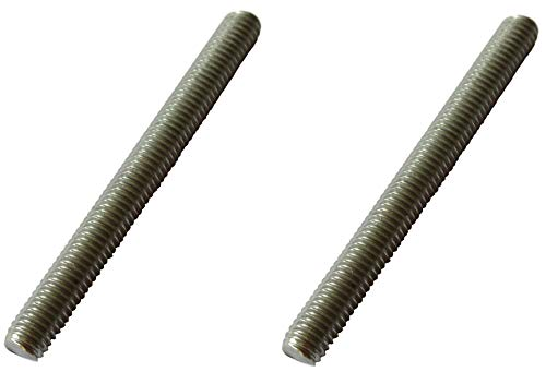 2x barre filettate M8, 50 mm, V4A, barra filettata esterna, acciaio inox industriale