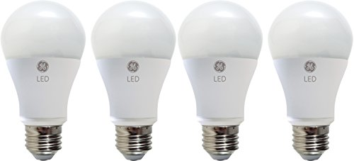 GE LED Light Bulb, A19, 60-Watt Replacement, Daylight, 4-Pack LED Light Bulbs, Medium Base, Dimmable