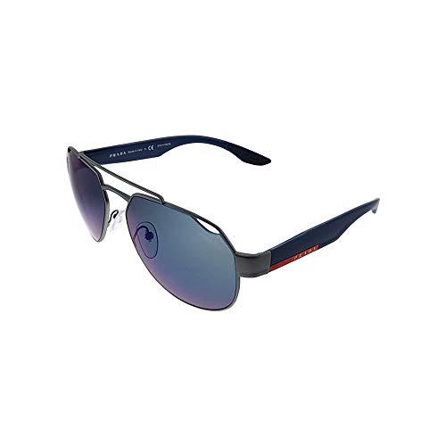 Prada LINEA ROSSA 0PS 57US Gafas de sol, Gunmetal Rubber, 58 para Hombre