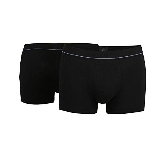 Bugatti Herren Pants, Baumwolle, Single Jersey schwarz, Uni, 2er Pack 8