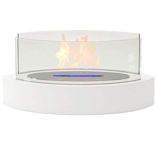Regal Flame ベランダ 通気口なし 屋内 屋外 ファイヤーピット 卓上 ポータブル ファイヤーボウル ポット バイオ エタノール 暖炉 ホワイト - ジェルの暖炉やプロパンファイヤーピットのようなリアルでクリーンな燃焼