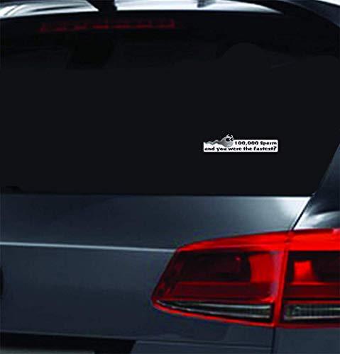 Auto Racing Aufkleber Schnellste Sperma Aufkleber Notebook Auto Stolz Unterstützung Verpackung Zubehör dekorative Aufkleber für Auto Laptop Fenster Aufkleber