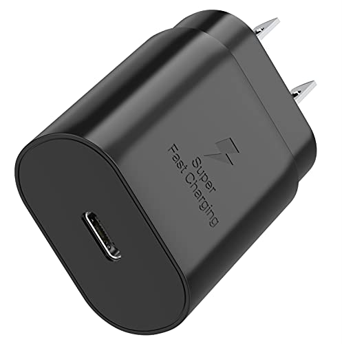 TT&C USB C 25W PD Super Fast Charger Type C Wall Plug Adapter Block Compatible with Samsung Galaxy S21/S21 Plus/ S21 Ultra/ S20 /S20 Plus /Note20 /Note10/ iPhone 12/iPhone 12 Pro/12 Pro Max/iPhone 11