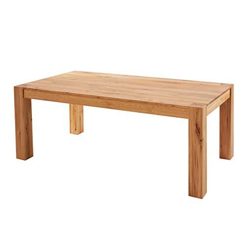 Invicta Interior Massiver Esstisch Pure 200cm Natur Wildeiche geölt Massivholz Tisch mit intensiver Holzstruktur Konferenztisch
