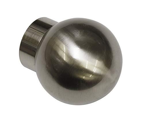 GARDINIA ändknopp, Aluminum, Rostfritt stålutseende, Windsor Ball, 2
