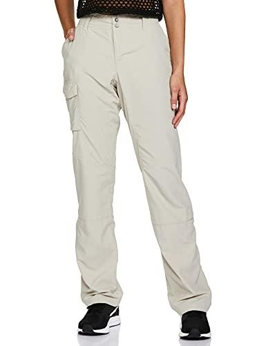 Columbia Femme Pantalon de Randonnée, SILVER RIDGE PANT, Nylon, Kaki (Fossil), Taille: 6, AL8003