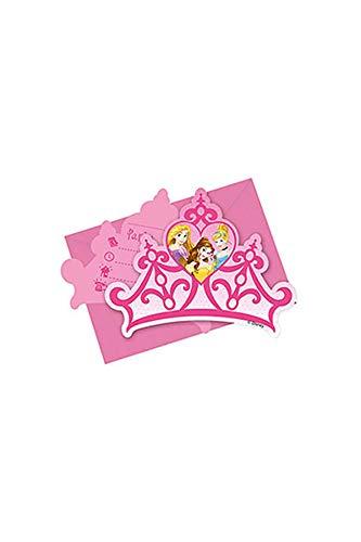 Pioneer Europe 47102-Qual-V Einladungskarte zum Geburtstag, Motiv: Disney-Prinzessin, mehrfarbig