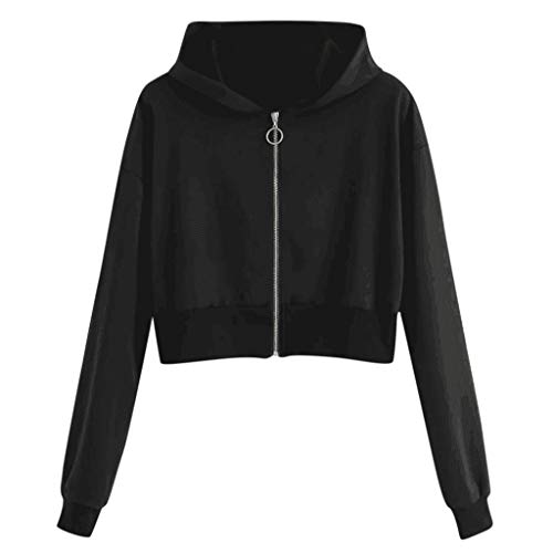 Great Features Of Baiggooswt Fashion Autumn Casual Women's Hoodie Jumper Zipper Long Sleeve Solid Sw...