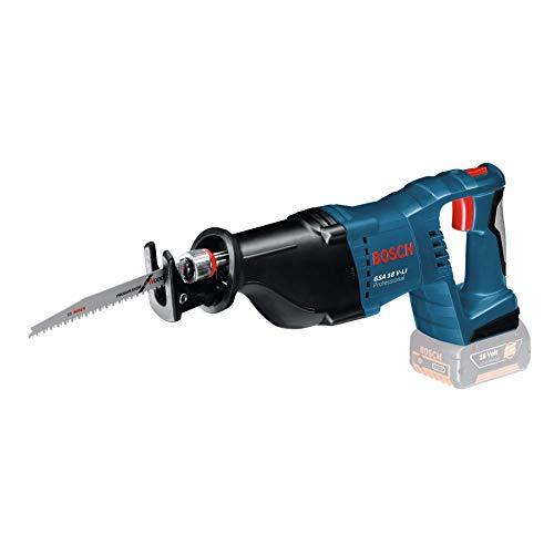 Bosch Professional GSA18 VLIN Scie Sabre Sans-Fil GSA 18 V-LI (18 V, 3,4 kg, Boîte en Carton) Noir, Bleu
