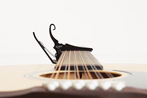 Kyser Quick-Change Capo for 12-string guitars, Black, KG12B