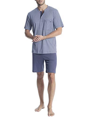 Calida Relax Streamline 1 Kurz-Pyjama mit Knopfleiste Herren
