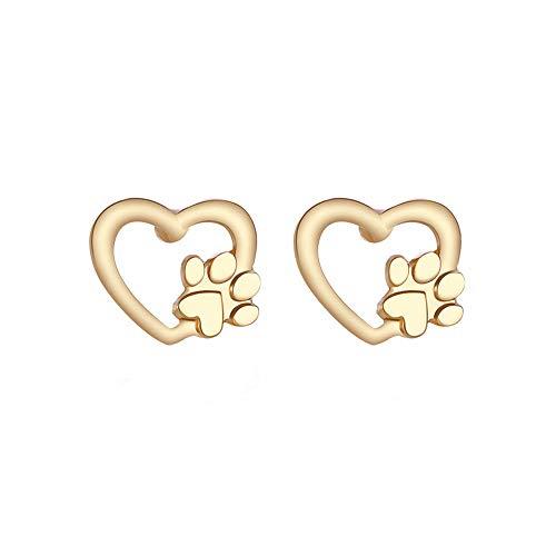 jieGorge Earrings for Women, Cute Silver Gold Bear Stud Earring Cat Dog Paw Claw Earrings for Women, Animal, Gifts for Women and Girls (Gold)