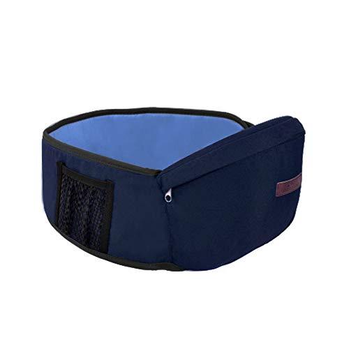 Isuper Baby Hip Seat Carrier Kleinkind Hüftgurt mit verstellbarem Gurt und Netztasche Baby Carrier Baby Hipseat (blau)