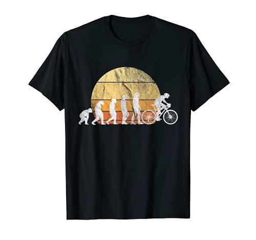 Divertido disfraz para ciclistas, ciclistas, bicicletas de carreras. Camiseta