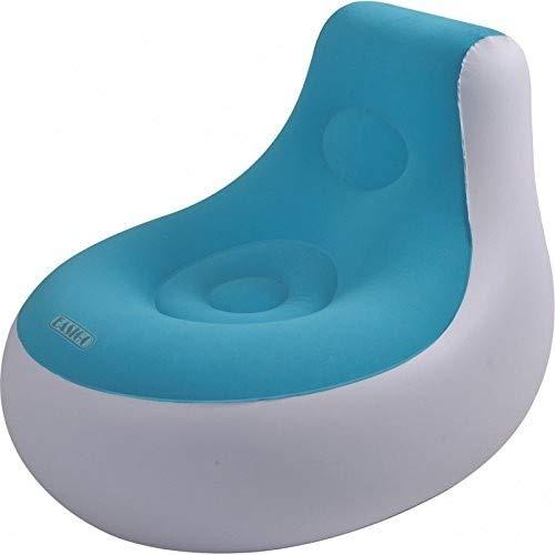 Easigo Side Chair Ø 85 x 73 cm aufblasbarer Sessel velourbeschichteter Sitzsack Sitzkissen Relax Lounge Stuhl Hocker (sortiert - Farbauswahl nicht möglich)