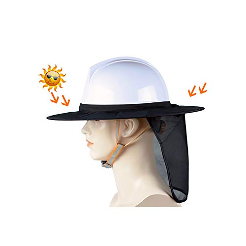 YZJJ Hard Hat Sun Shield: Alta Visibilidad, protección de protección Solar de Malla de Borde Completo, Sombra de Casco, Sombra de Cuello, Accesorio de Casco (1 Piezas)