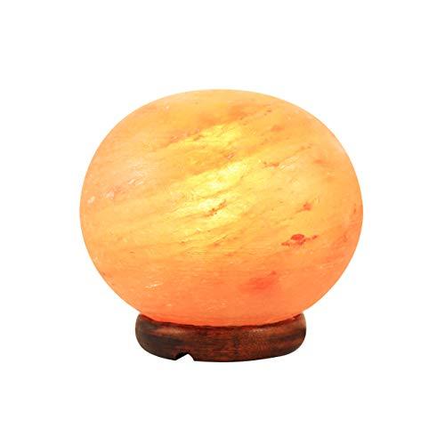 Lampe de sel de l'Himalaya 100% naturelle, réduit la stress, purifie l'air, atténue les symptômes d'allergie, améliore la respiration et le sommeil