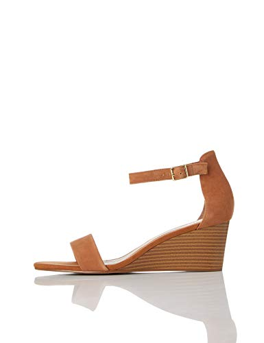find. Wedge Leather Peeptoe Sandalen, Braun Tan), 38 EU