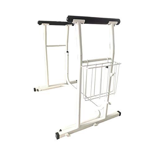 Rehaforum Medical Aufsteh- und Stützgeländer, Stehhillfe Stützgestell Aufstehhilfe Toilette, rutschfeste Griffe & Ablagekorb,