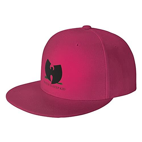 Unisex Deportes al aire libre Wu Tang Clan Watch Ya Step Kid Hip Hop Flat Brim Hat Gorra de béisbol