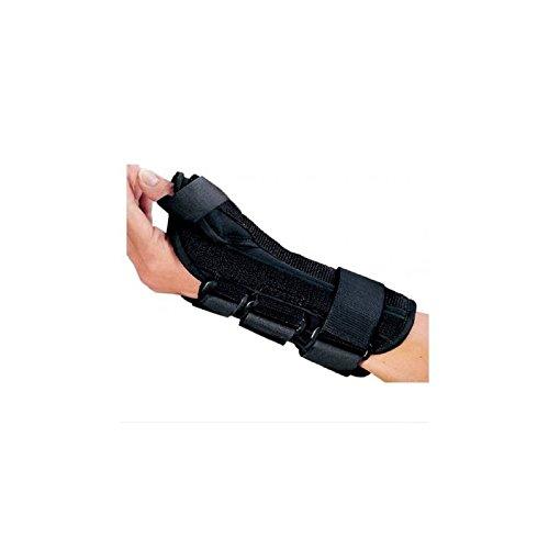 DJO ProCare ComfortFORM Wrist Splint With Abducted Thumb Foam / Lycra Right Hand Black Medium - qty : 1