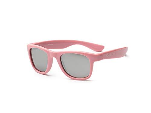 koolsun bebés y niños gafas de sol Wave Fashion 1 +, 100% protección UV, Rosa, 3-10 años
