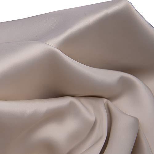 MUYUNXI Tela De Raso Forro De Tela para Vestidos De Novias Fundas Artesanas Vestidos Blusas Ropa Interior 150 Cm De Ancho Vendido por 2 Metro(Color:Albaricoque Blanco)