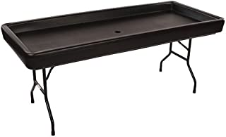 McCourt CP-1FNC8765 Chillin' Products 6ft Fill 'N Chill Party Table, Black