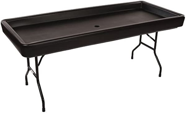 McCourt CP 1FNC8765 Chillin Products 6ft Fill N Chill Party Table Black