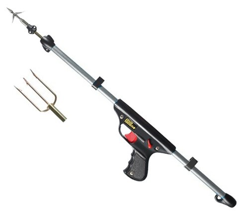 SEAC Polpone 50 Spring Gun with Double Barb and Trident Speargun Tips Lionfish Spearfishing SS Spear Spring Load Lion Fish