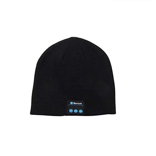 Cuffia Bluetooth Cappello Invernale Cappellino Musicale Caldo Con Guanti Altoparlante Auricolare Bluetooth Senza Fili Con Cappello Sportivo Cappello Nero Solo Per Cuffie