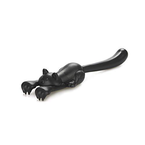 Balvi Gratta Schiena Curious Cat Colore Nero Raschietto Estensibile a Forma di Divertente Gatto Nero Plastica ABS/Inox 3,8x22x5,5
